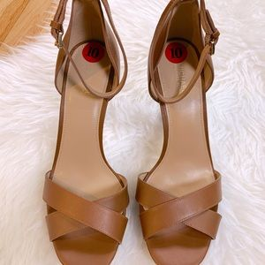 NWT Michael Kors Brown Open Toe Pumps